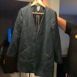 Large petite halogen tweed over coat